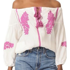 Line + Dot Alicia Embroidered Blouse Small NWT